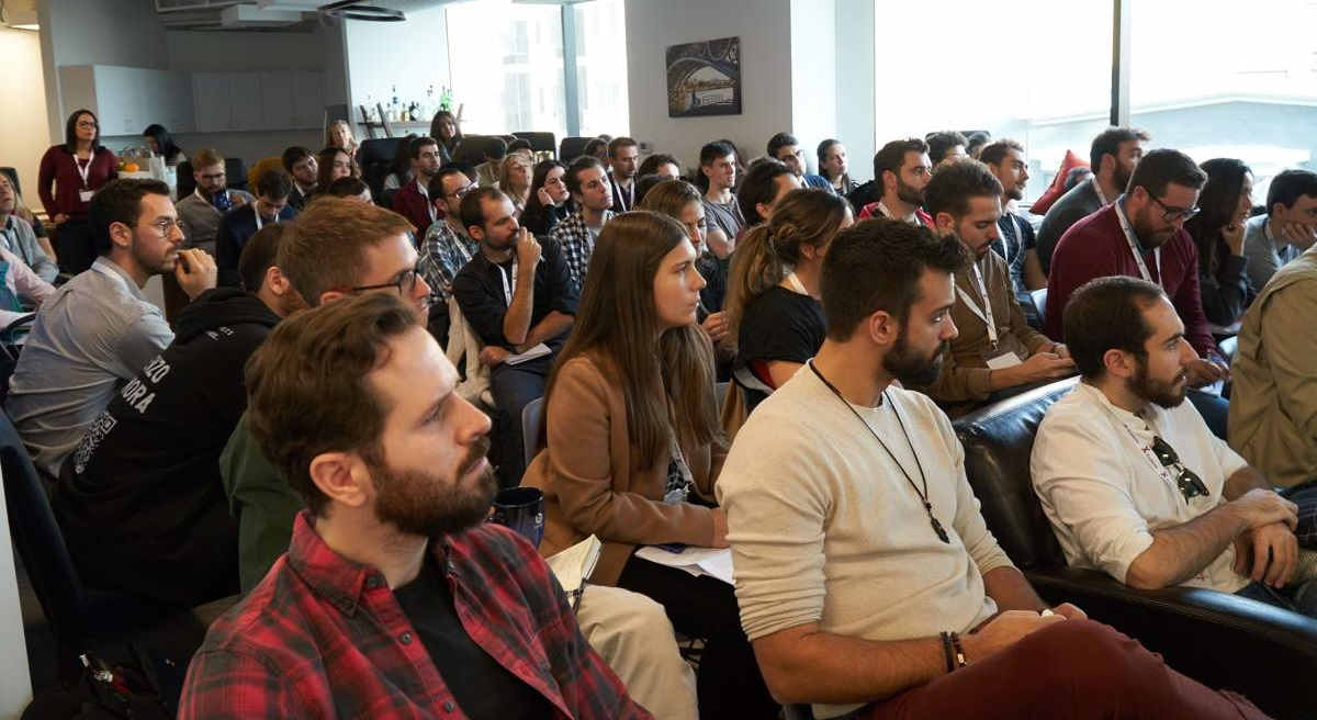 Algunos alumnos durante el viaje a Silicon Valley