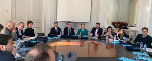Reunión de profesores de ESERP y otros catedráticos y académicos en la Universidad Oberta de Catalunya