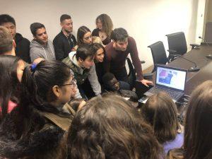 Alumnos del primer curso del Grado en Derecho de ESERP aprendiendo juntos en la Ciudad de la Justicia de Barcelona